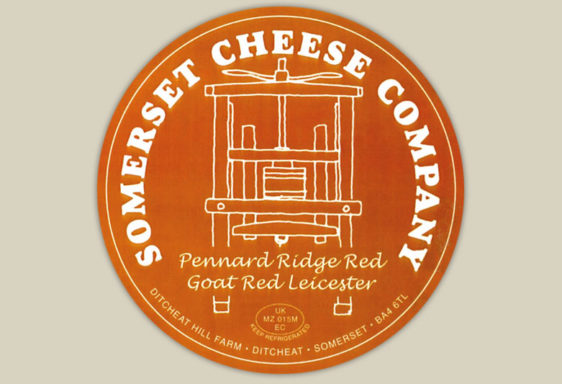 Pennard Ridge Red Goats Cheese Label