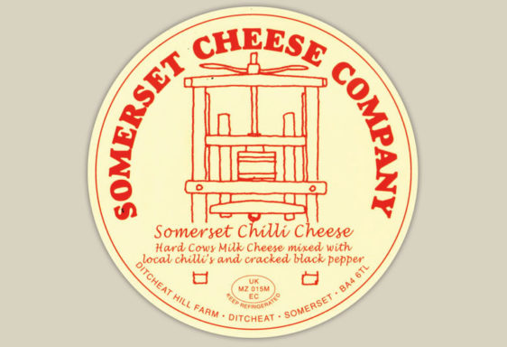 Somerset Chilli Cheese Label