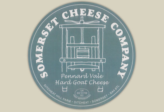 Pennard Vale Goats Cheese Label